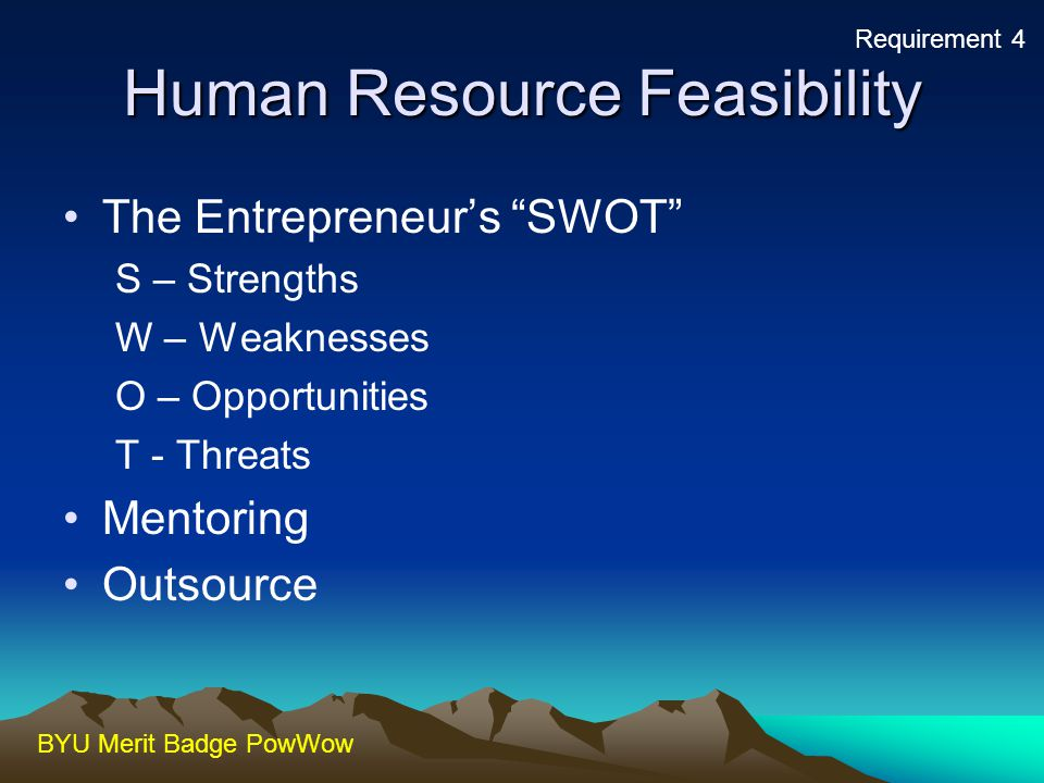 Human Resource Feasibility
