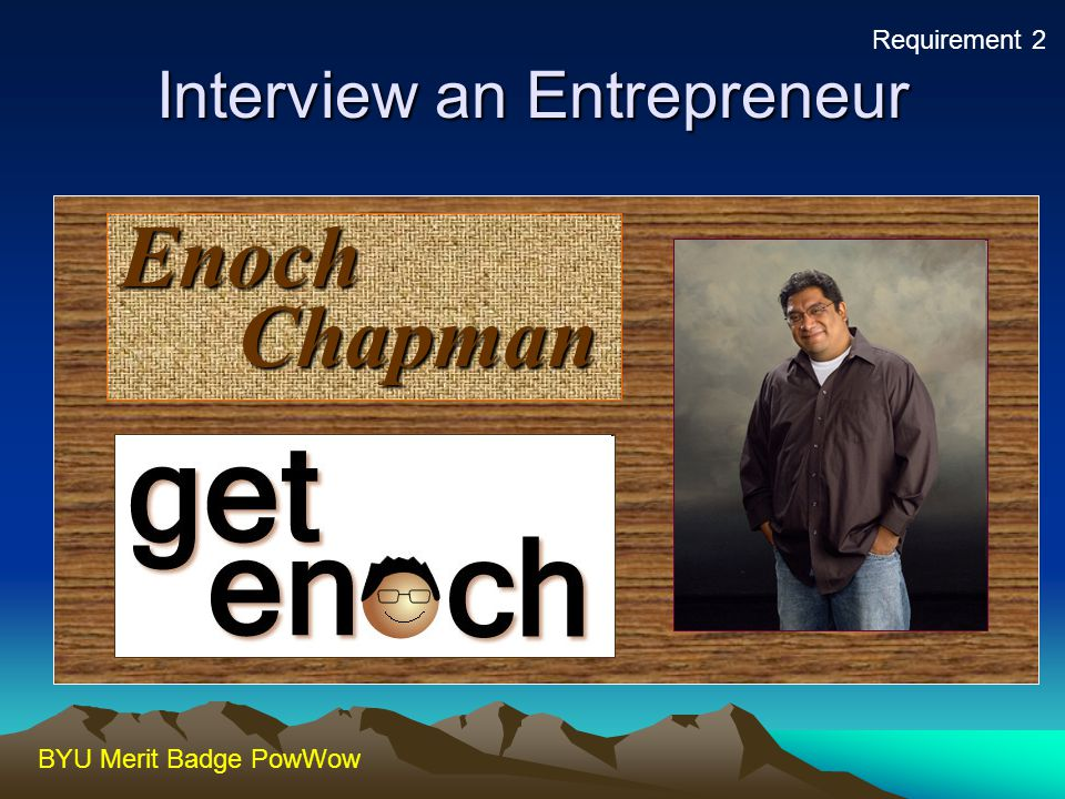 Interview an Entrepreneur