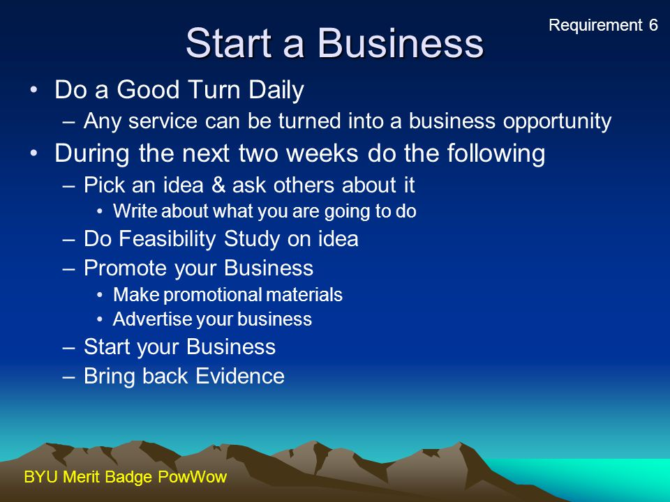 Start a Business Do a Good Turn Daily