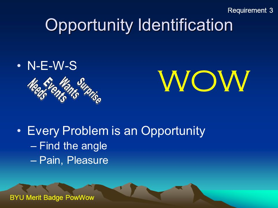 Opportunity Identification