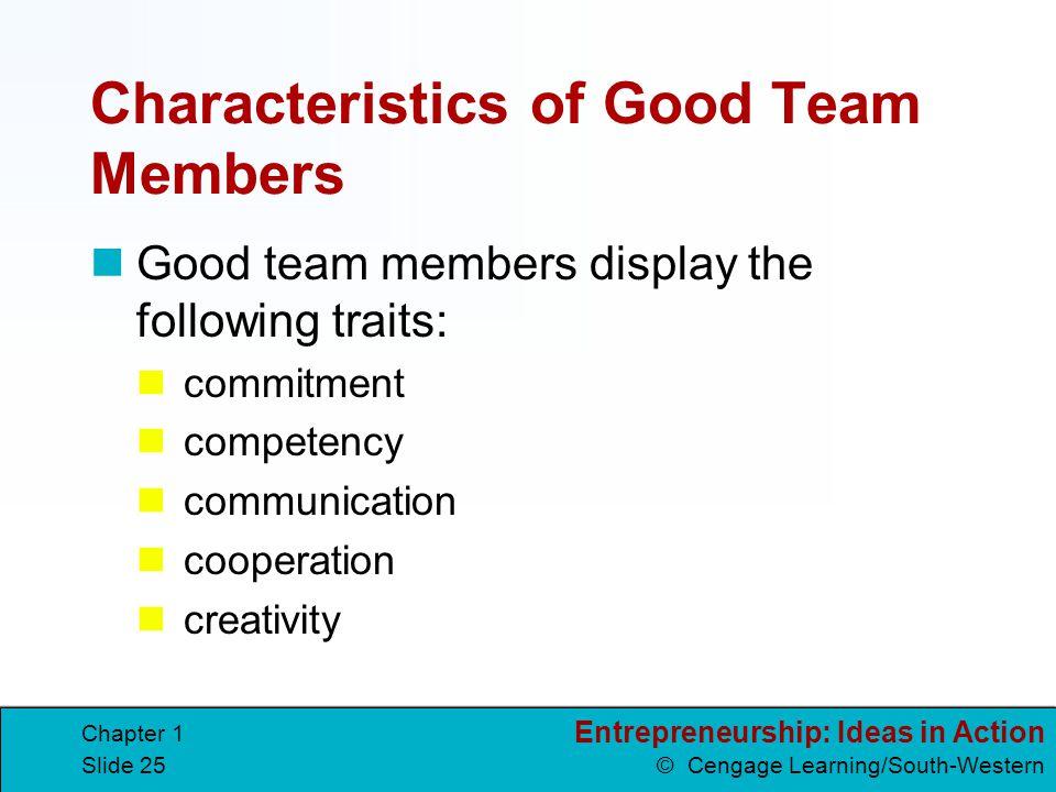 Characteristics of Good Team Members