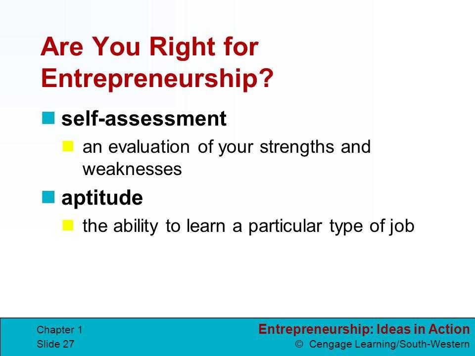 Are You Right for Entrepreneurship