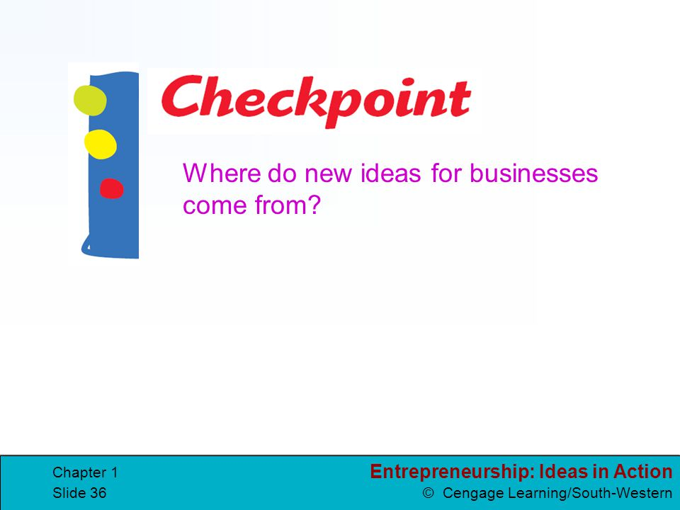 Where do new ideas for businesses come from