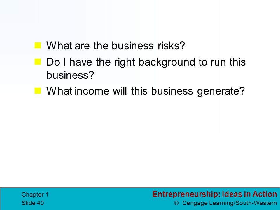 What are the business risks