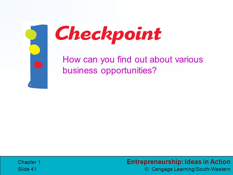 How can you find out about various business opportunities