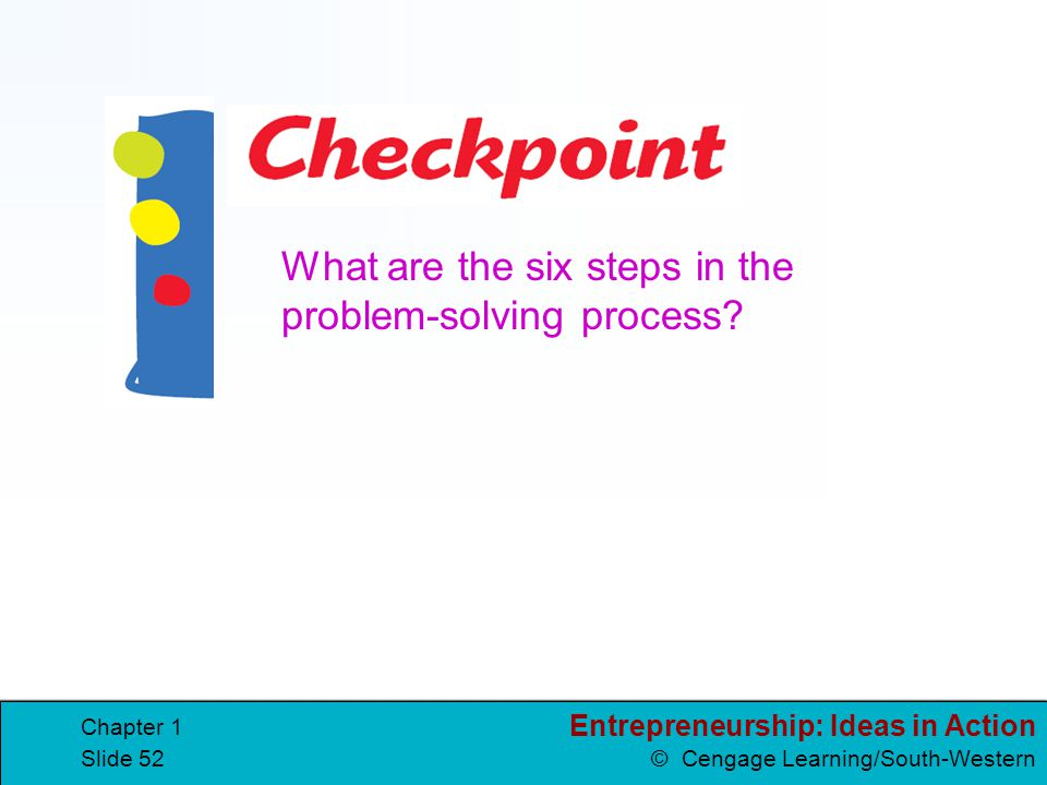 What are the six steps in the problem-solving process