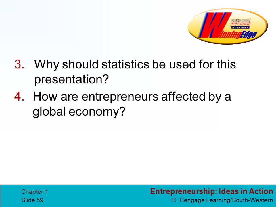 Why should statistics be used for this presentation