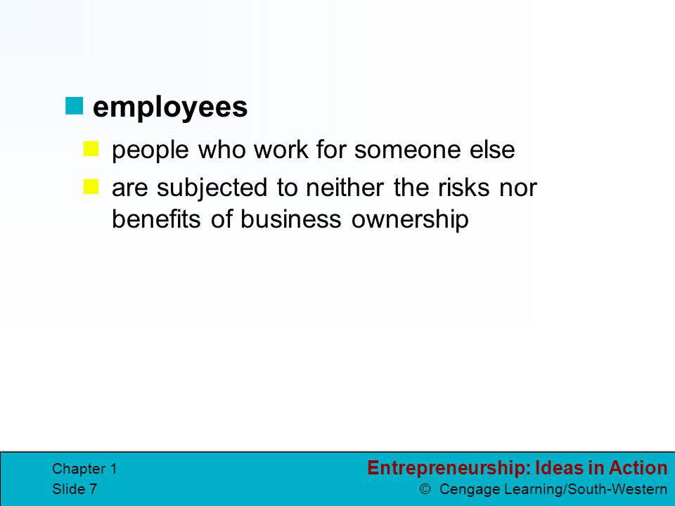 employees people who work for someone else