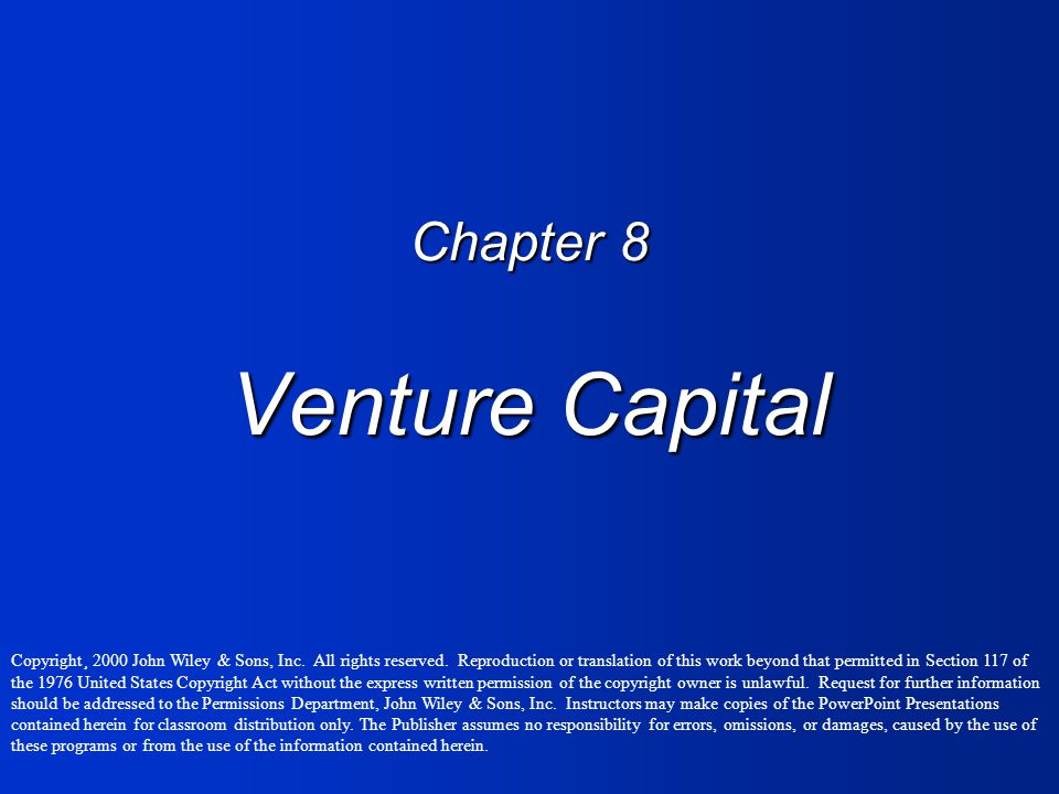 Chapter 8 Venture Capital