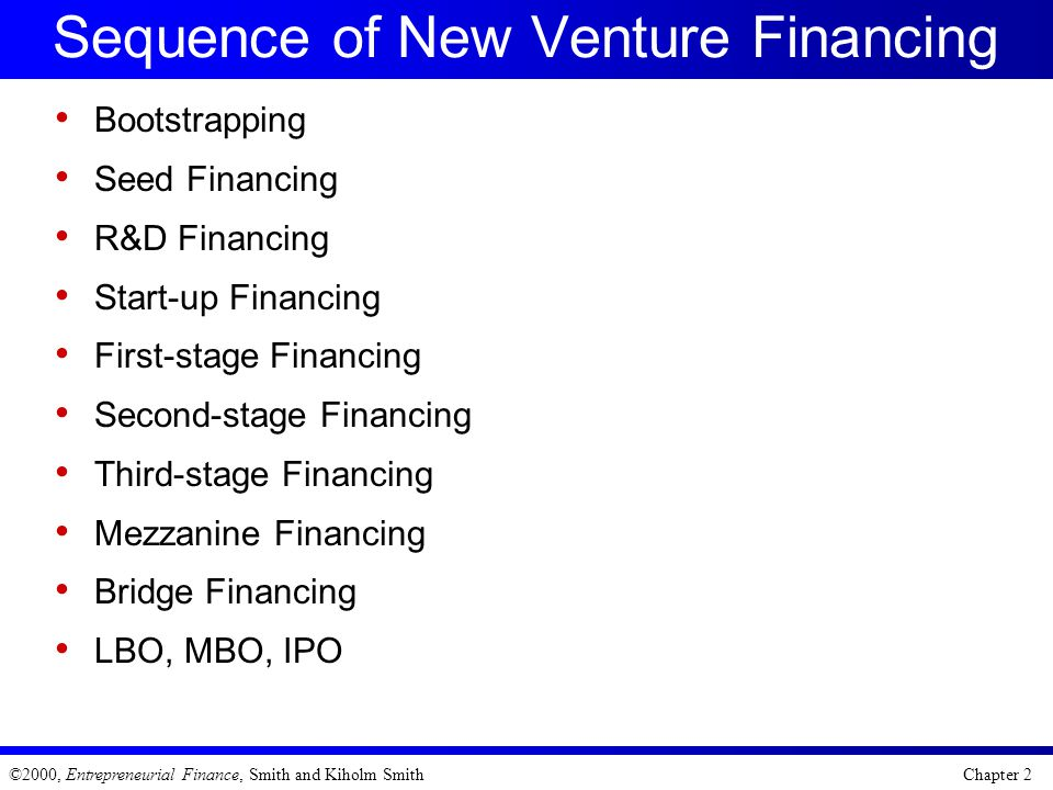 Sequence of New Venture Financing