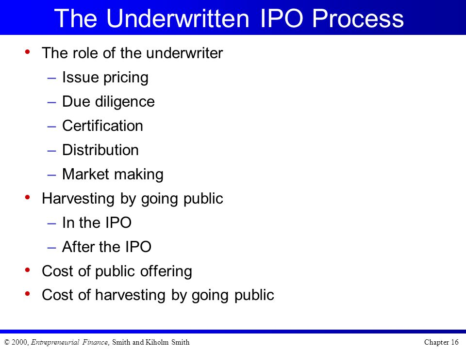 The Underwritten IPO Process
