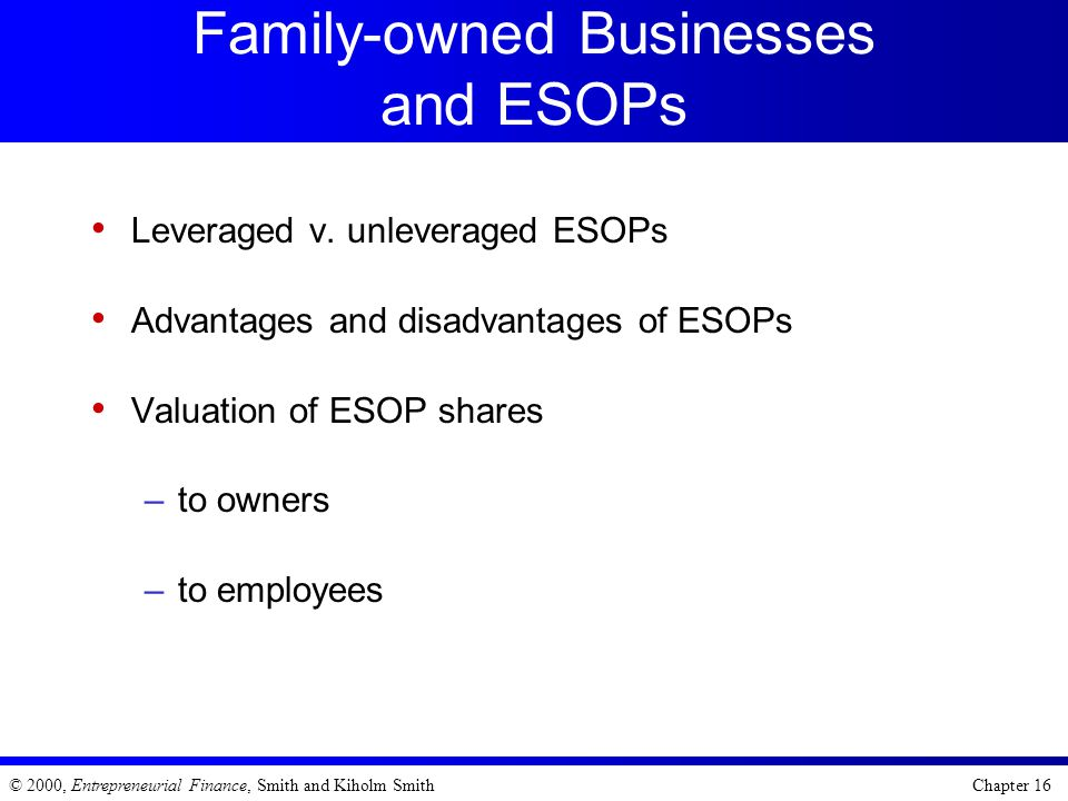 Family-owned Businesses and ESOPs
