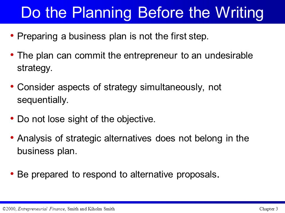 Do the Planning Before the Writing