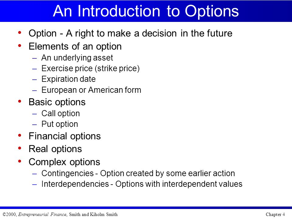 An Introduction to Options
