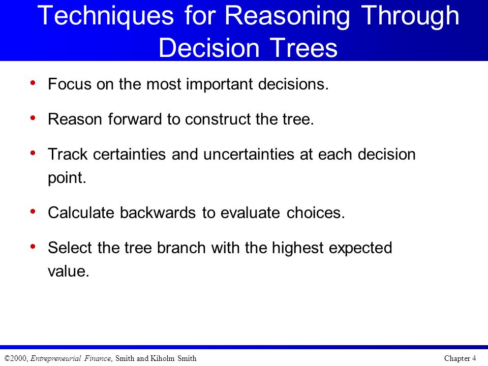 Techniques for Reasoning Through Decision Trees