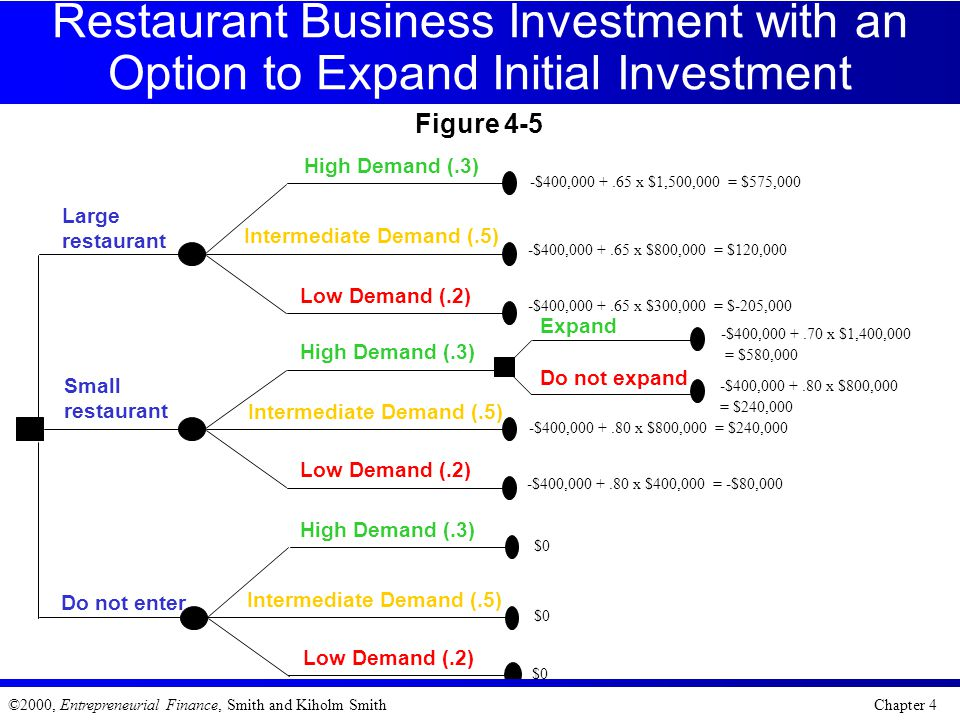 Restaurant Business Investment with an Option to Expand Initial Investment