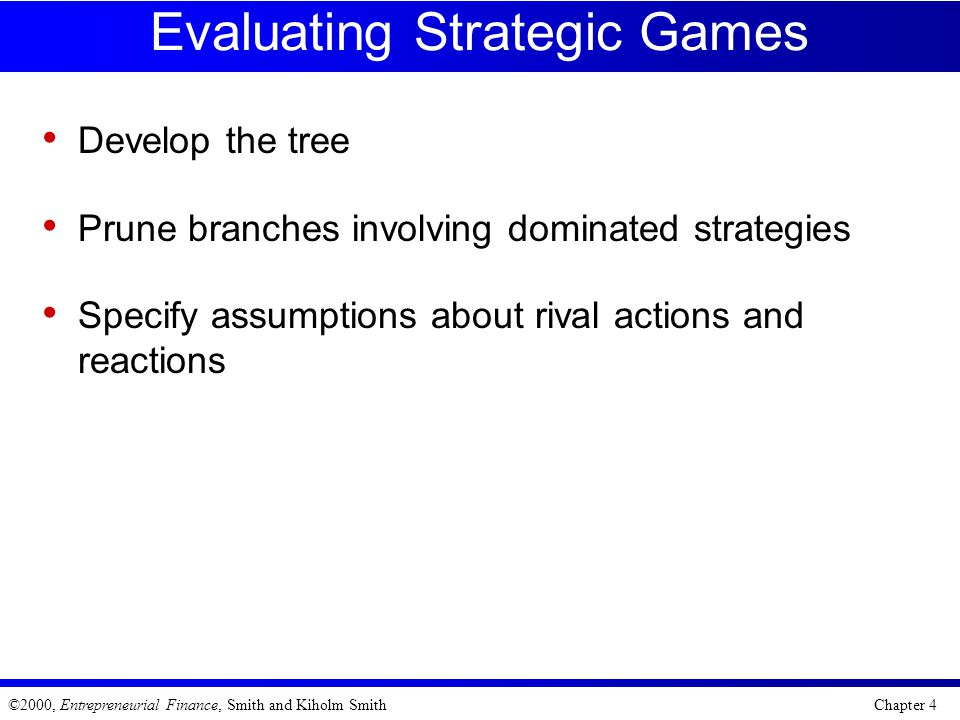 Evaluating Strategic Games