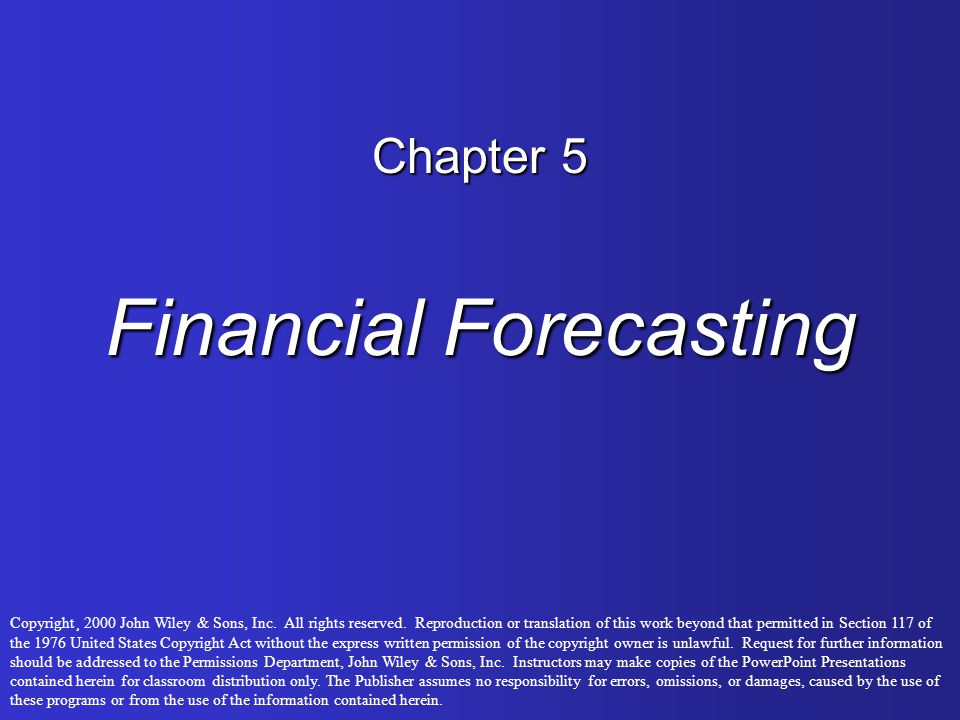 Chapter 5 Financial Forecasting