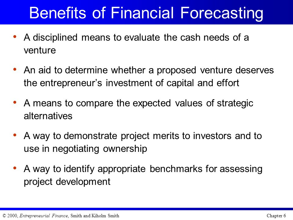 Benefits of Financial Forecasting
