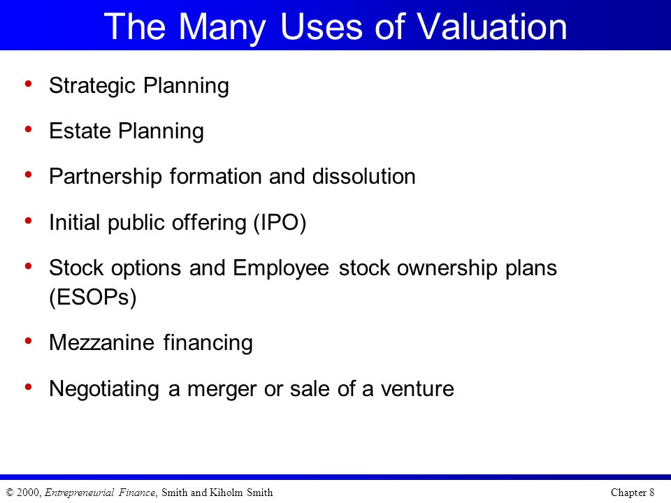 The Many Uses of Valuation