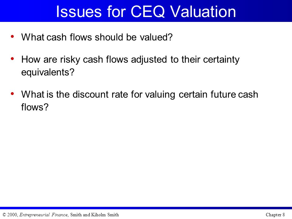 Issues for CEQ Valuation