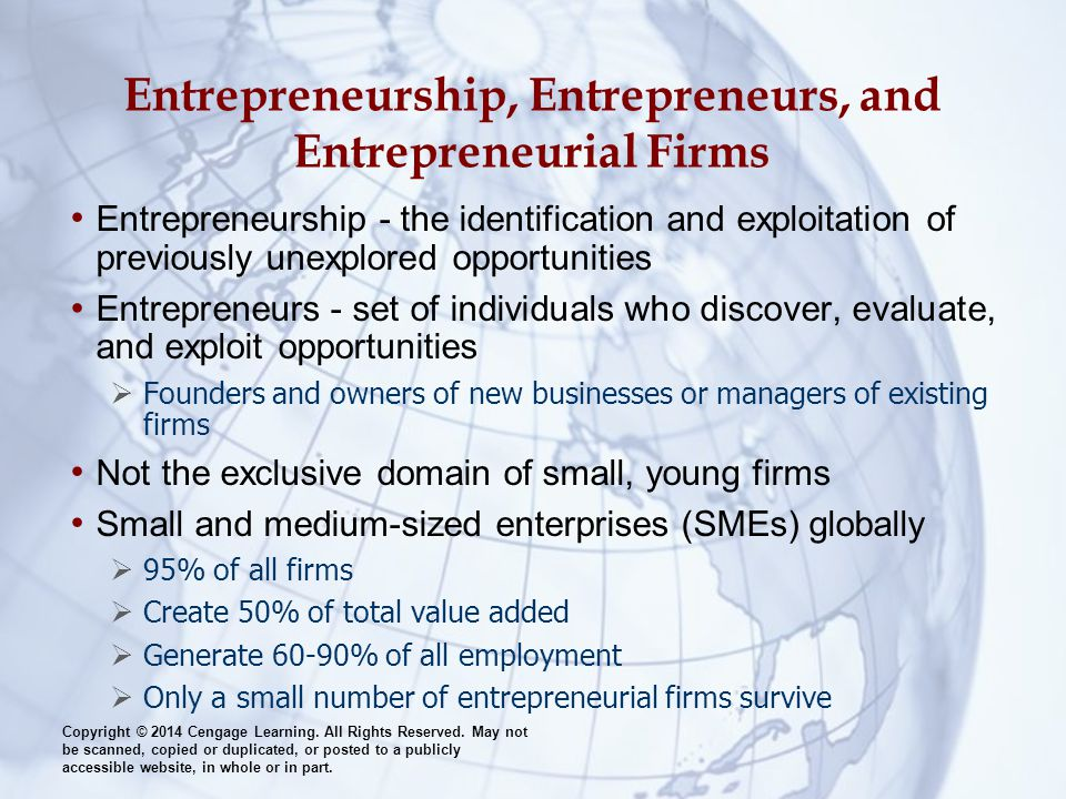 Entrepreneurship, Entrepreneurs, and Entrepreneurial Firms