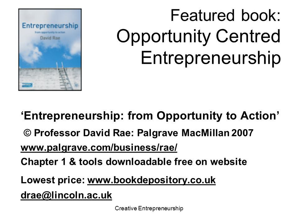 Featured book: Opportunity Centred Entrepreneurship