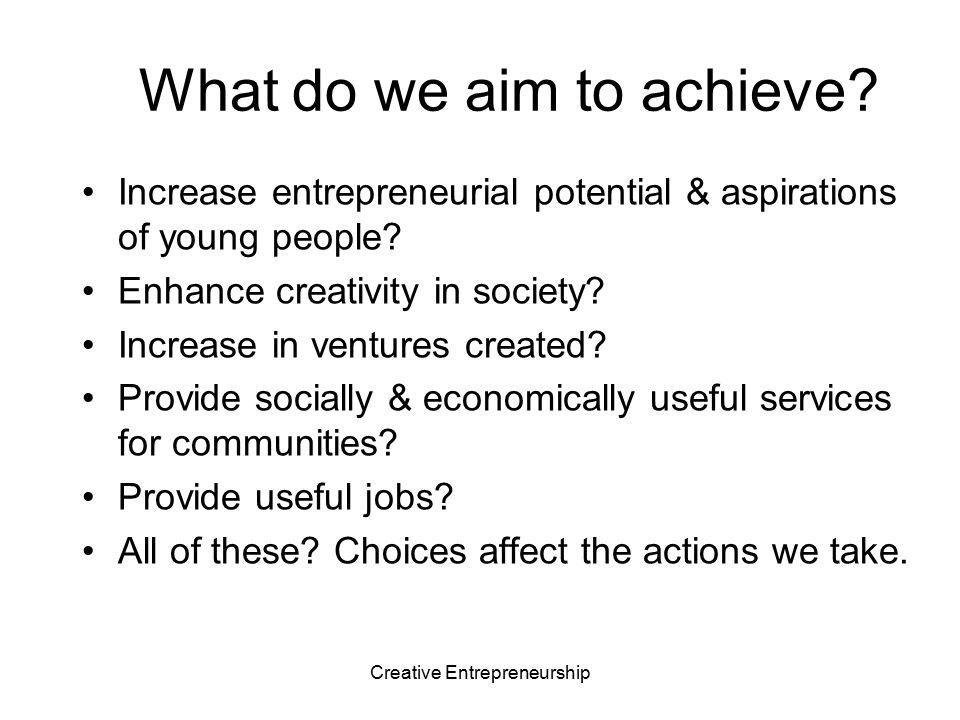 What do we aim to achieve