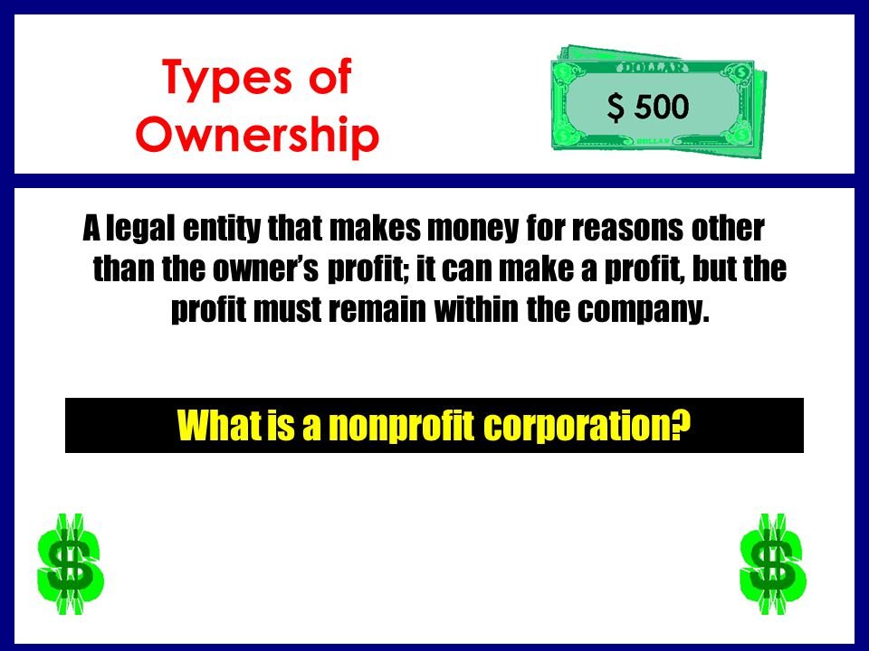 What is a nonprofit corporation