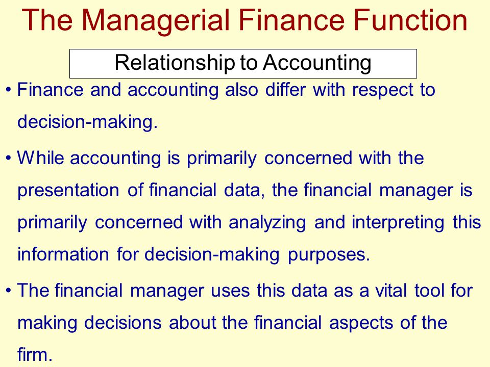 Key Activities of the Financial Manager
