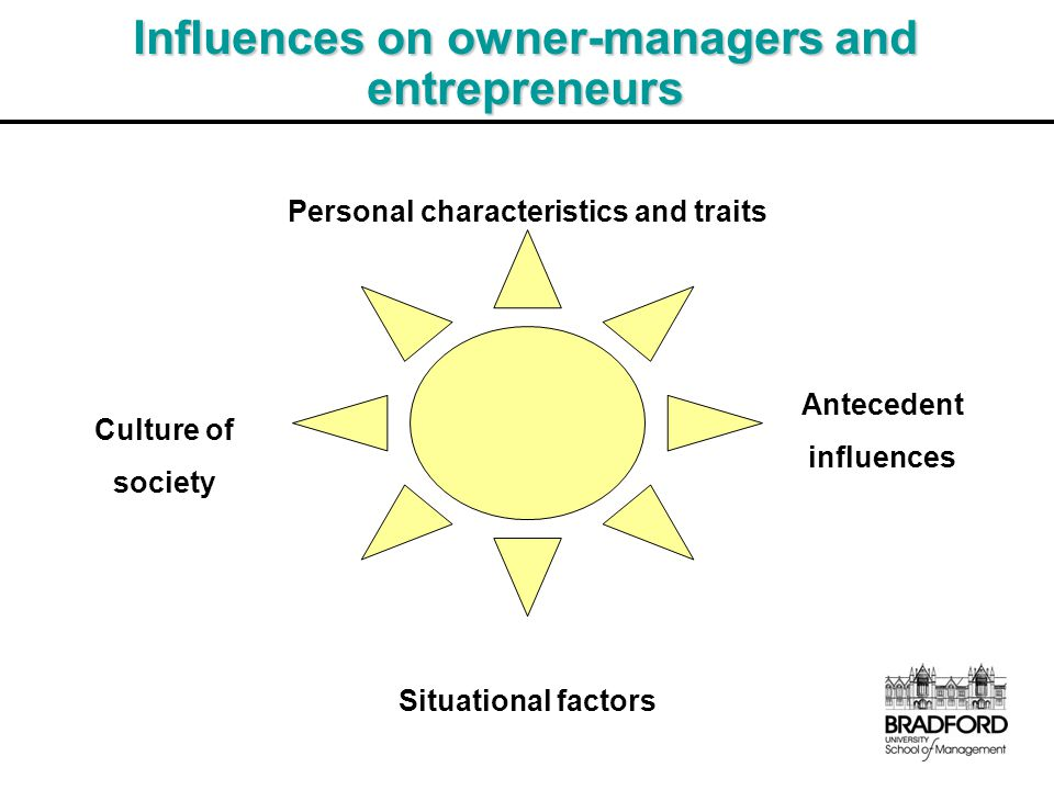 Influences on owner-managers and entrepreneurs