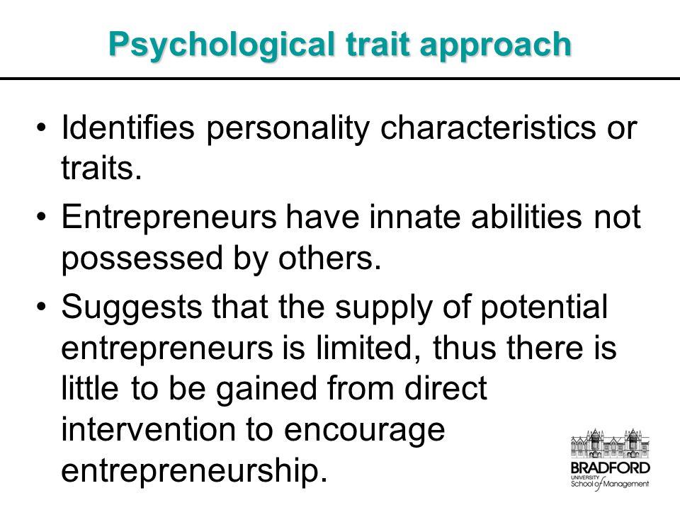 Psychological trait approach
