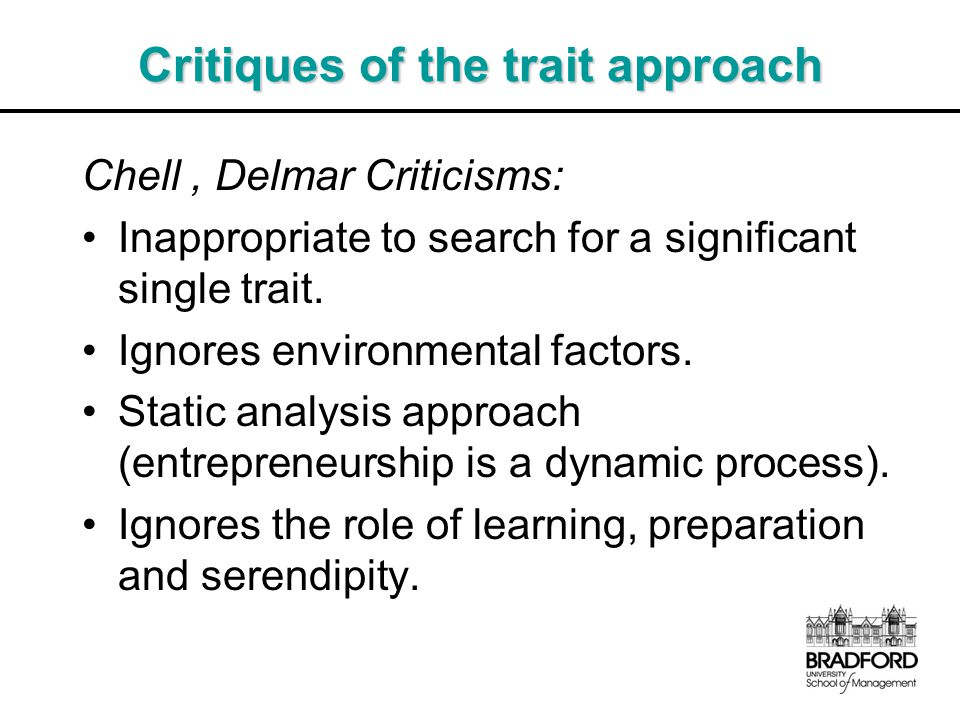 Critiques of the trait approach