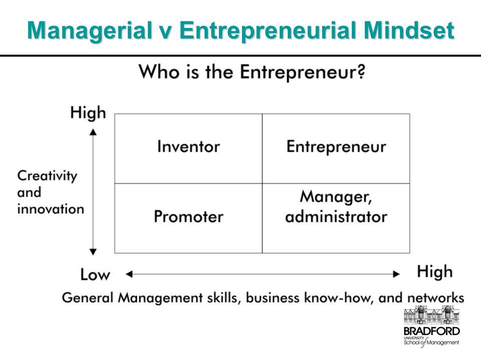 Managerial v Entrepreneurial Mindset