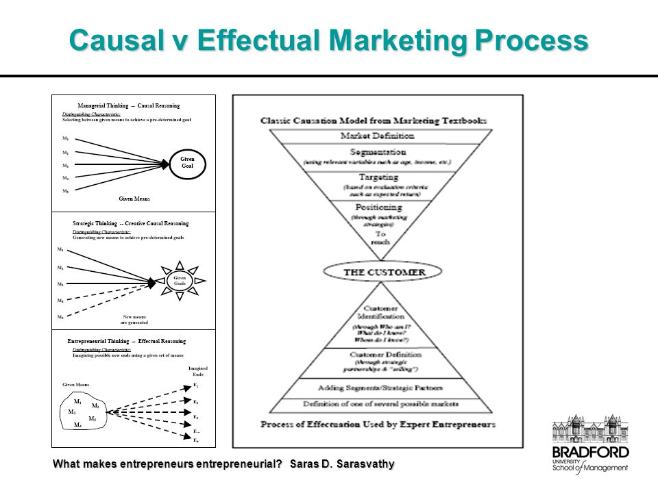 Causal v Effectual Marketing Process