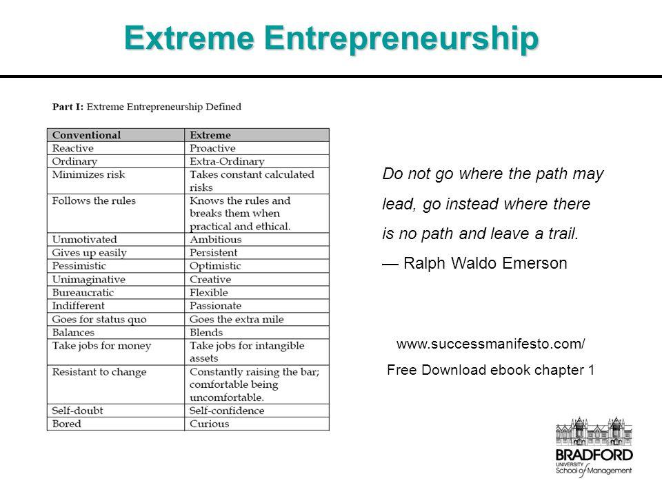 Extreme Entrepreneurship