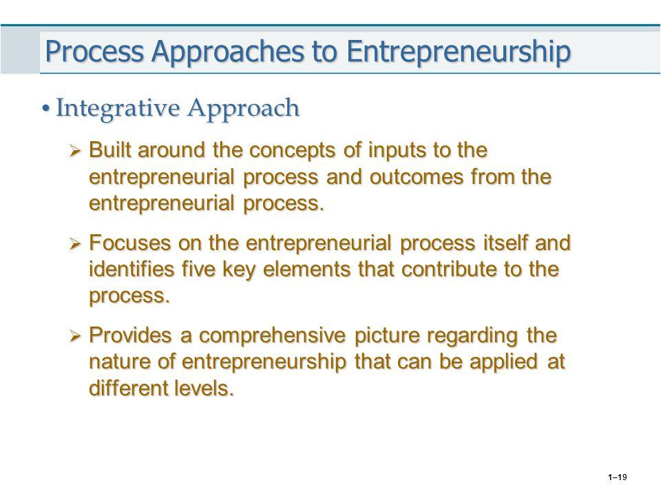 Process Approaches to Entrepreneurship