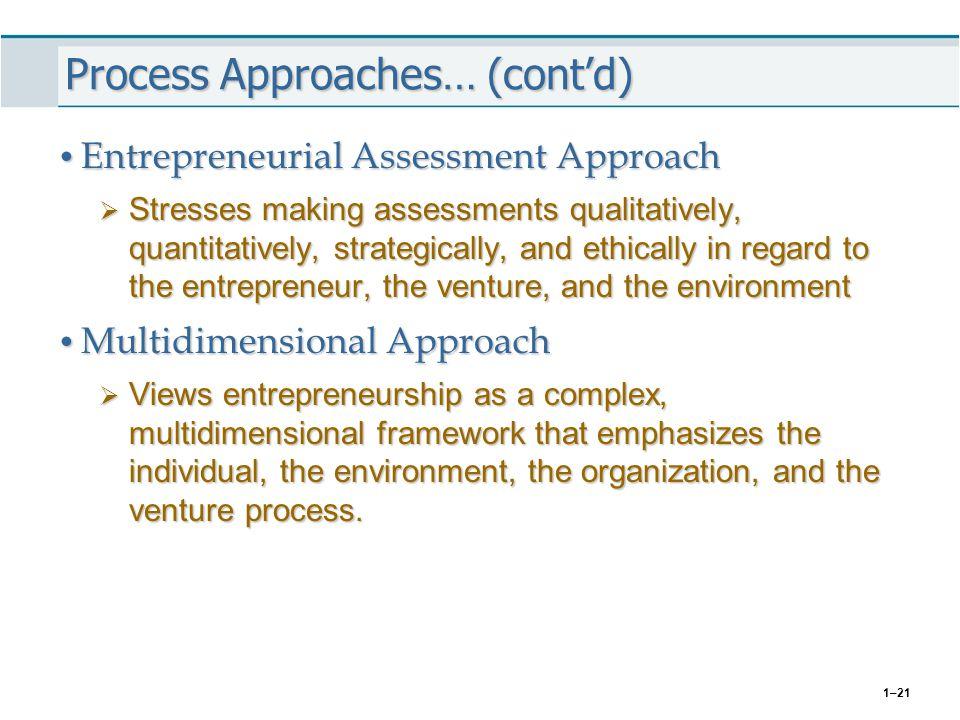 Process Approaches… (cont'd)