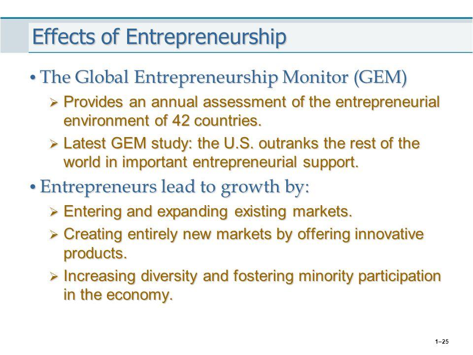 Effects of Entrepreneurship