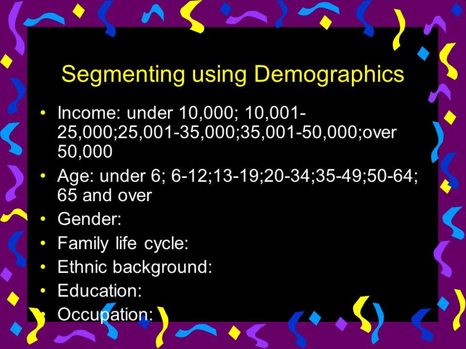 Segmenting using Demographics