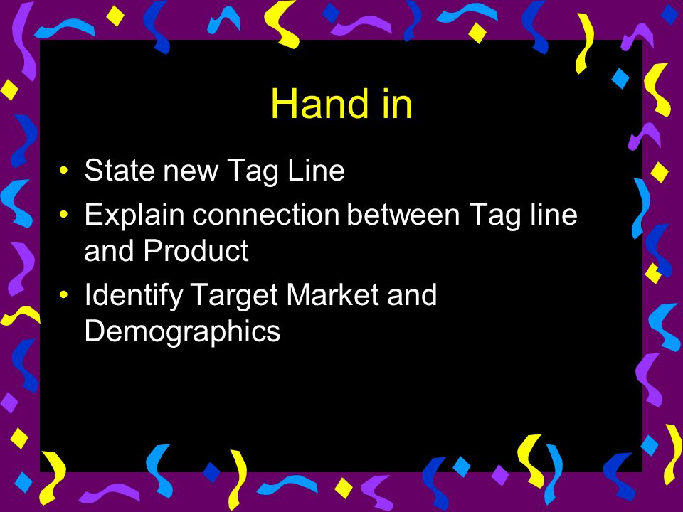 Hand in State new Tag Line