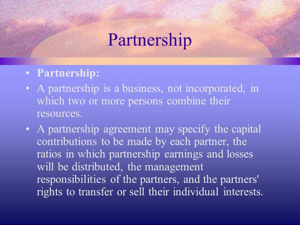 Partnership Partnership: