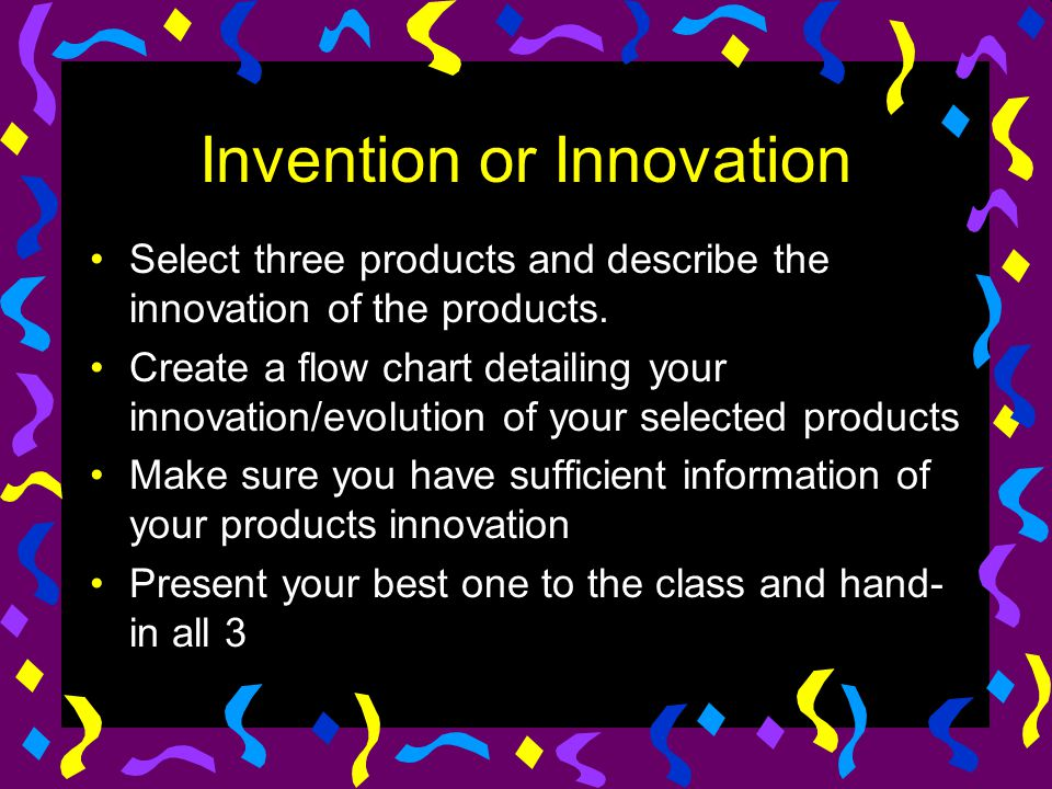 Invention or Innovation