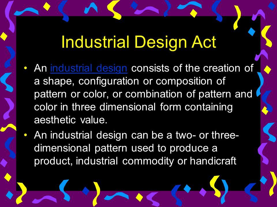 Industrial Design Act