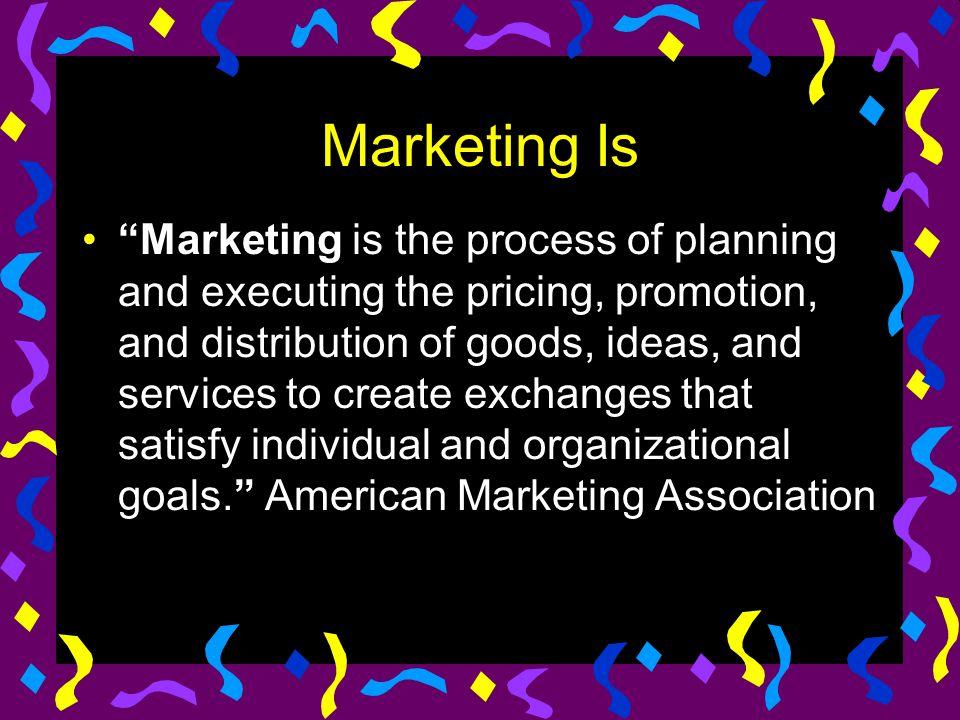 Marketing Is
