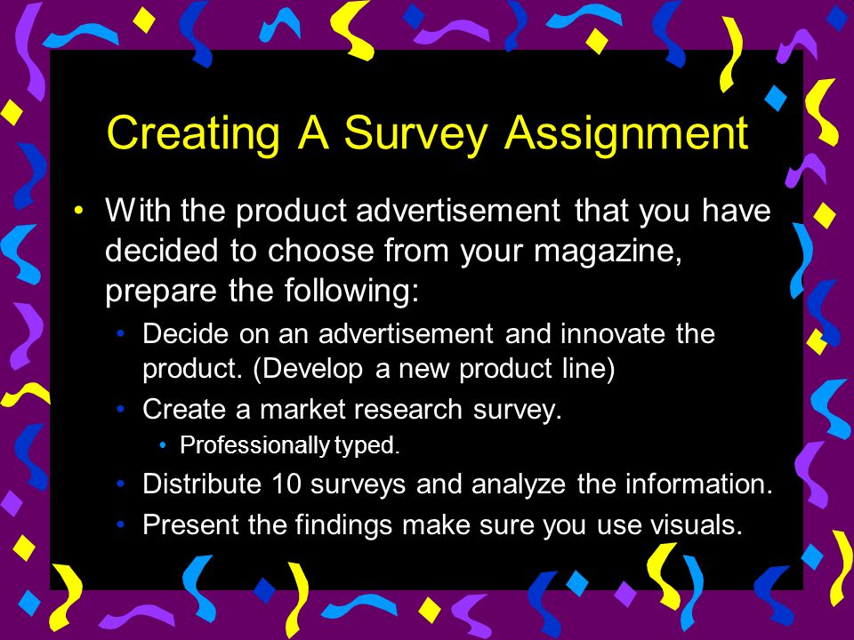 Creating A Survey Assignment