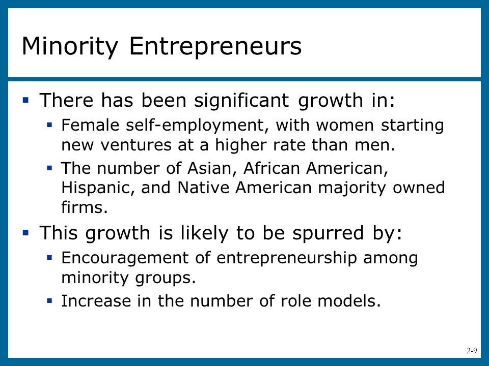 Minority Entrepreneurs