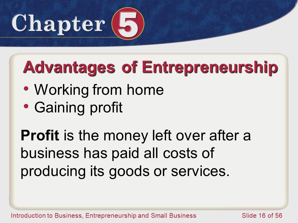 Advantages of Entrepreneurship