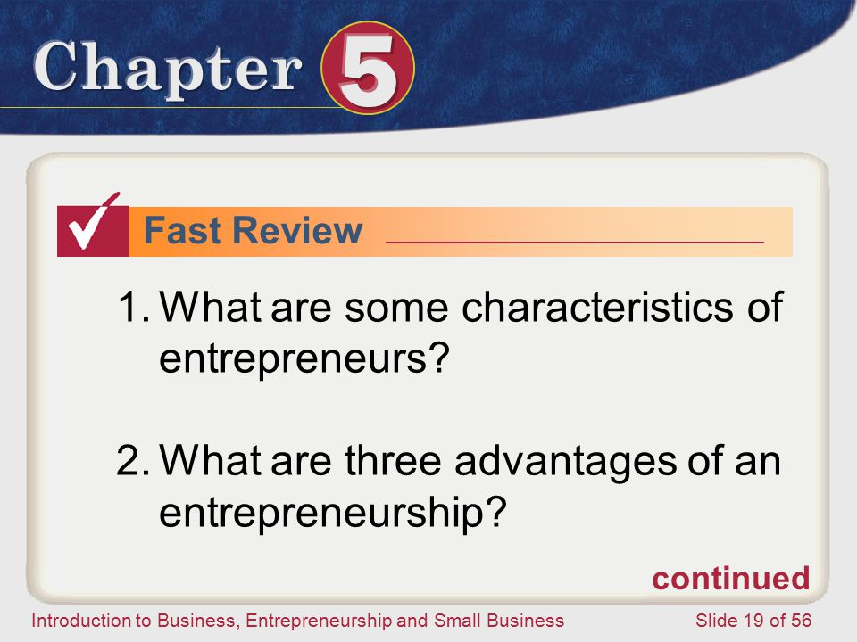 What are some characteristics of entrepreneurs