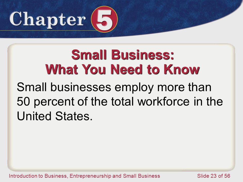 Small Business: What You Need to Know